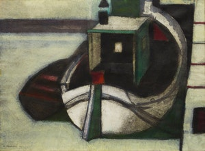 Artwork by M Pejakovic, Docked Boat