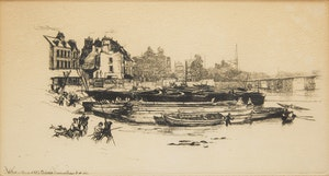 Artwork by  Unknown 20th Century Artist, Pair of Works: Whistler's House at Old Chelsea; Landscape