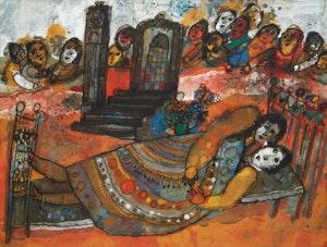 Artwork by Theo Tobiasse, La foule crie, les passants les regardent