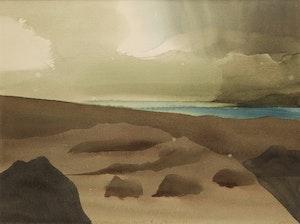 Artwork by Toni Onley, Shower, Savage Point, B.C.