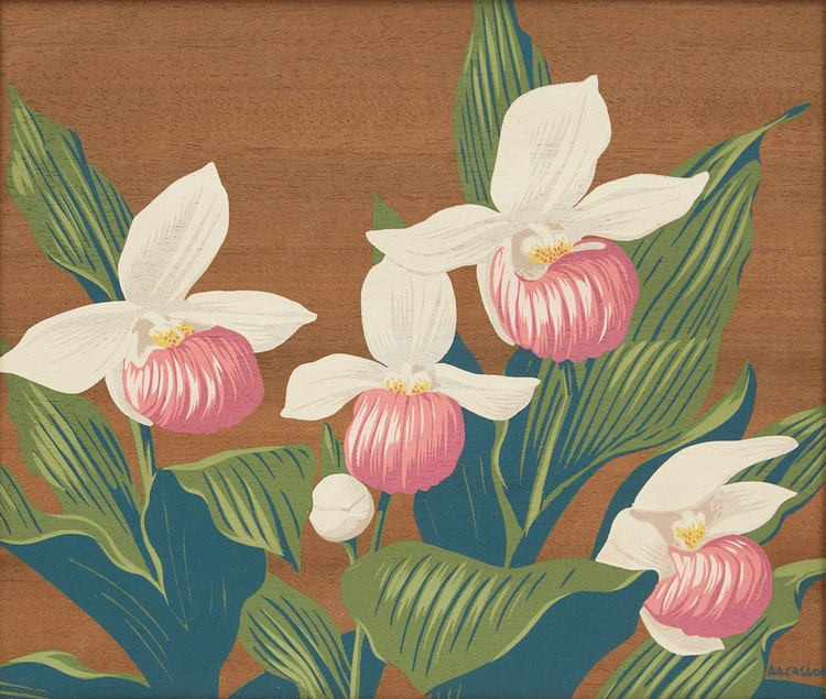 Artwork by Alfred Joseph Casson,  Lady Slipper