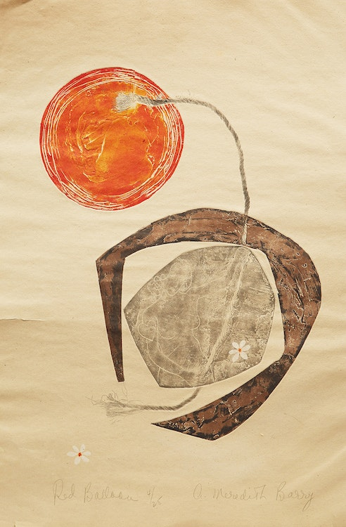 Artwork by Anne Meredith Barry,  The Red Balloon