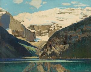 Artwork by George Franklin Arbuckle, Lake Louise, Canadian Rockies