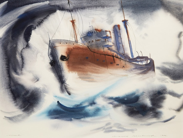 Artwork by David Lloyd Blackwood,  Wreck
