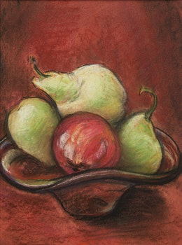 Artwork by Ruth Barker Hood, Still Life with Pears