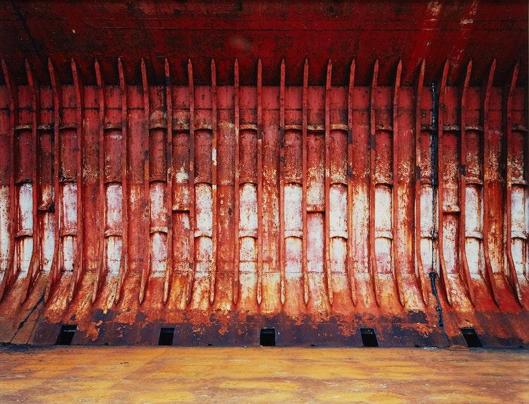 Artwork by Edward Burtynsky,  Shipbreaking #48, Chittagong, Bangladesh, 2001