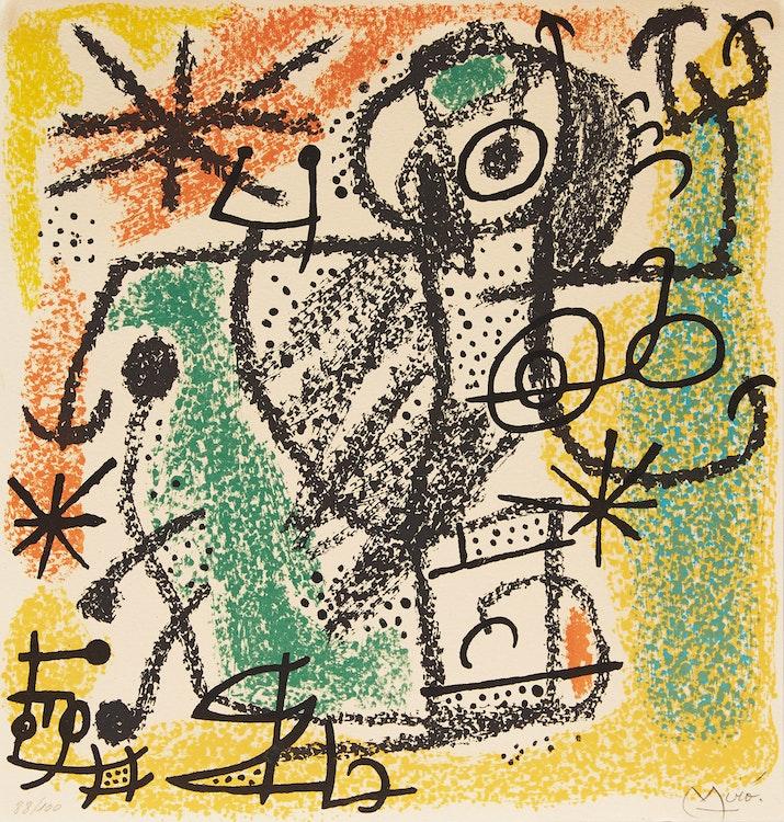 Artwork by Joan Miro,  Les Essencies de la terra