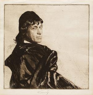 Artwork by Ferdinand Schmutzer, Josef Kaines as Hamlet