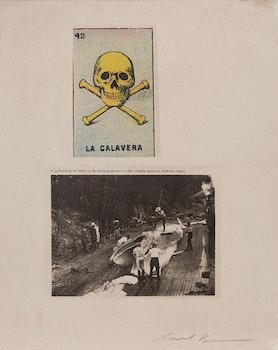 Artwork by Carl Beam, La Calavera