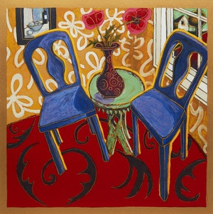 Artwork by Alison Goodwin, Two Blue Chairs