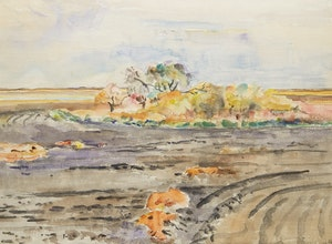 Artwork by Dorothy Elsie Knowles, Shoreline Landscape