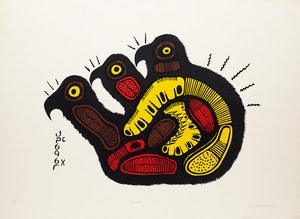 Artwork by Josh Kakegamic, Three Birds