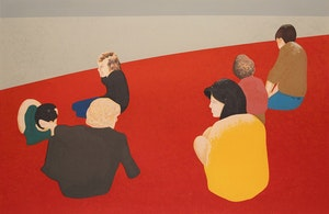 Artwork by Charles Pachter, Six Figures in a Landscape
