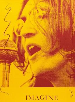 Artwork by Carl Beam, John Lennon