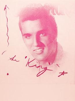 Artwork by Carl Beam, Elvis