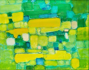 Artwork by Victor Bourigaut, Abstract in Green