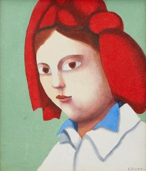 Artwork by Louise Scott, Girl in a Red Kerchief