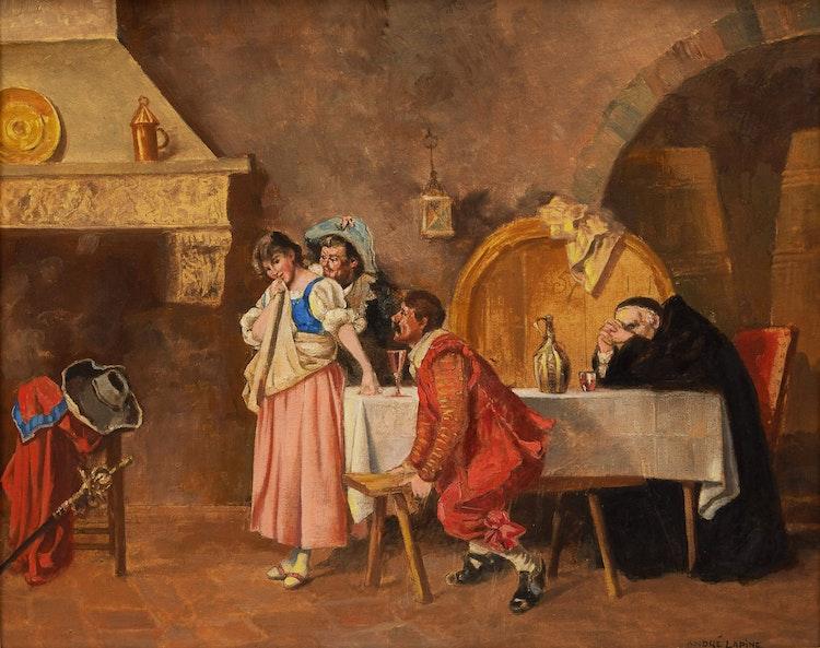 Artwork by Andreas Christian Gottfried Lapine,  The Inn