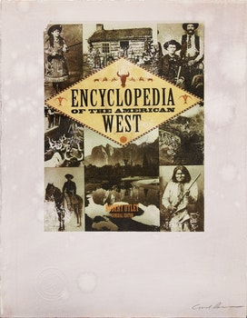 Artwork by Carl Beam, Untitled (Encyclopedia of the American West)