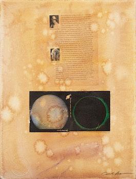 Artwork by Carl Beam, Untitled (Curtis, Bear & The Solar System)