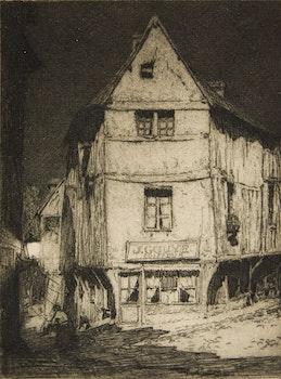 Artwork by Clarence Alphonse Gagnon, Clair de Lune Pont de L'Arche