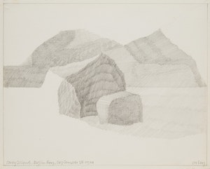 Artwork by Toni Onley, Corey Island, Baffin Bay
