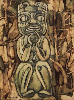Artwork by June Montgomery, Haida Mothers