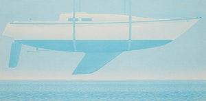 Artwork by Christopher Pratt, New Boat