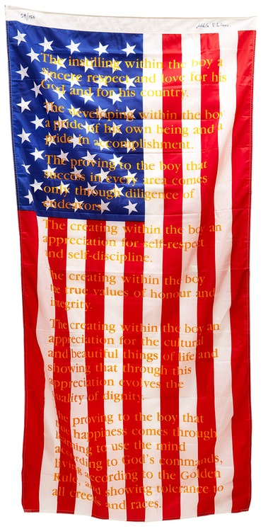 Artwork by Attila Richard Lukacs,  American Flag edition