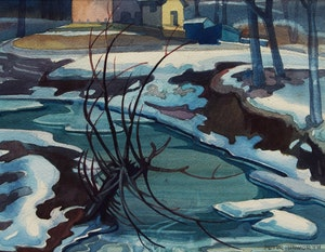 Artwork by Peter Haworth, Winter Landscape