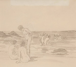 Artwork by Farquhar McGillivray Strachan Knowles, Bathers