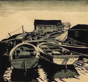 Artwork by Leonard Hutchinson, Back Water