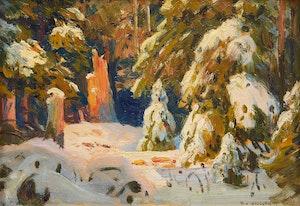 Artwork by Frederick Henry Brigden, Trees in Winter