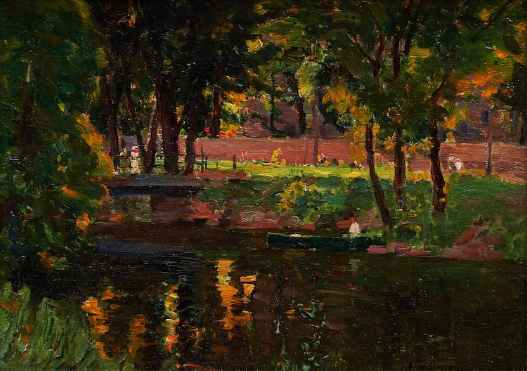 Artwork by Andrew Wilkie Kilgour,  Old Canal, Lachine