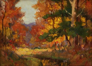Artwork by Manly Edward MacDonald, Autumn View