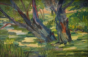 Artwork by Mary Heister Reid, Forest Interior