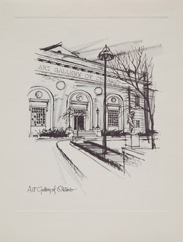 Artwork by Roy Hewetson, The CKFM Print Collection: Sketches of Toronto