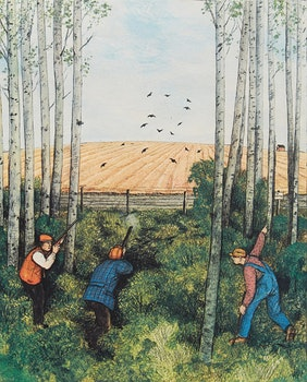 Artwork by William Kurelek, Hunting