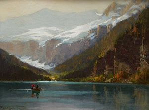 Artwork by Frederic Marlett Bell-Smith, Mount Victoria, Lake Louise