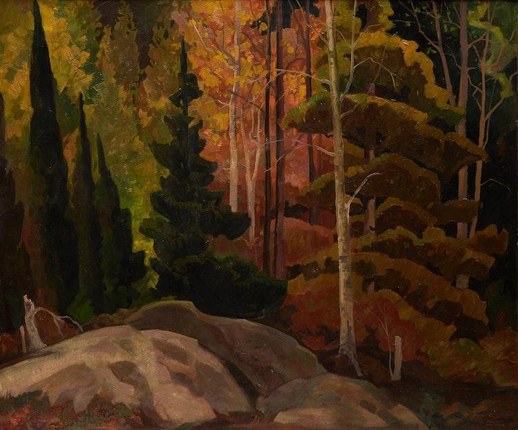 Artwork by Joachim George Gauthier,  Northern Woodland