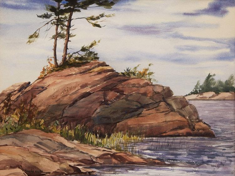 Artwork by Pauline Holacin-Kulha,  At Cognashene, Georgian Bay