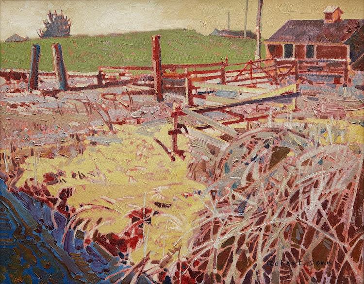 Artwork by Robert Genn,  Edge: Buckner's Farm, Delta, B.C.