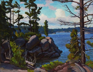 Artwork by Frederick Stanley Haines, Canoe Channel (Parry Sound)