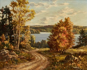 Artwork by Otto Planding, Winding Road; Northern Ontario Near Huntsville; Muskoka