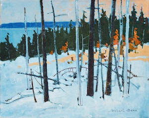 Artwork by Robert Genn, Last Light, Parry Sound