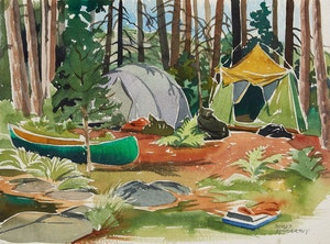 Artwork by Doris Jean McCarthy, Camping Trip, Killarney Park