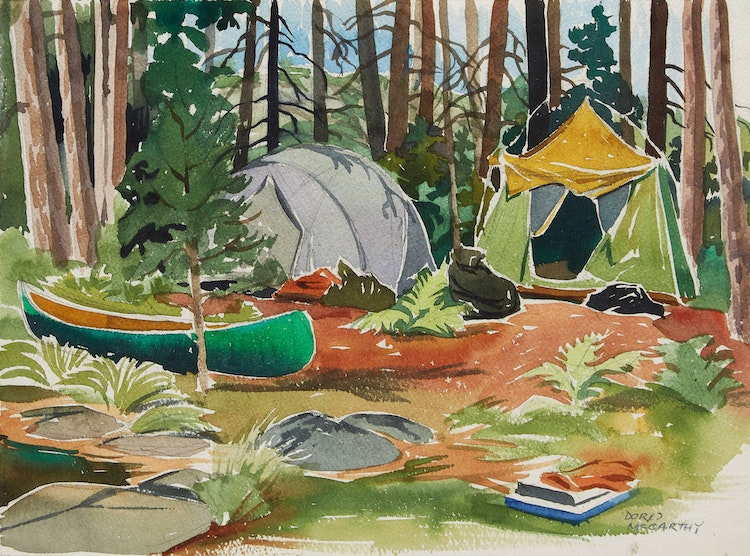 Artwork by Doris Jean McCarthy,  Camping Trip, Killarney Park