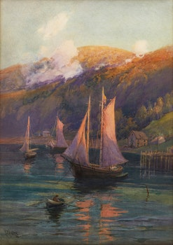 Artwork by Robert Ford Gagen, Evening, Bay of Fundy