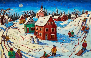 Artwork by Rod Charlesworth, Winter (Full Moon)
