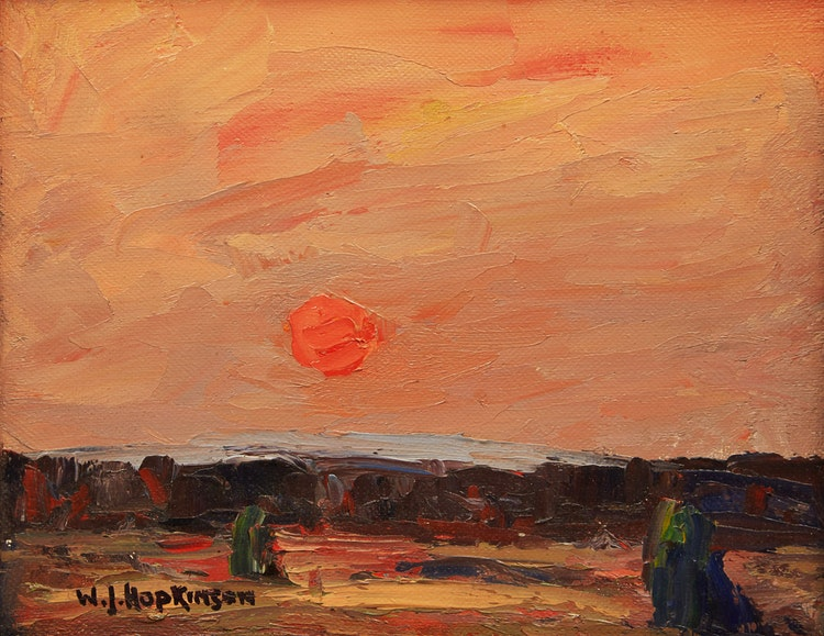 Artwork by William John Hopkinson,  Red Sun